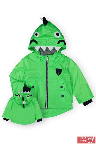 بارانی بهاری دخترانه برند Verscon رنگ سبز کد ty107028752