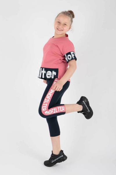 ست لباس دخترانه ترک برند Ahenk Kids رنگ صورتی ty107216324