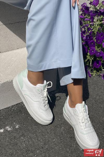 اسپرت زنانه ارزان برند İnan Ayakkabı رنگ سفید CİLT/S.YEŞİL ty107218815