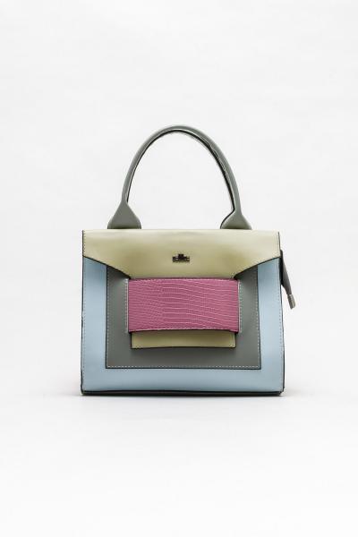 فروش کیف دستی دخترانه جدید برند Elle Shoes رنگ نقره ای کد ty108358024