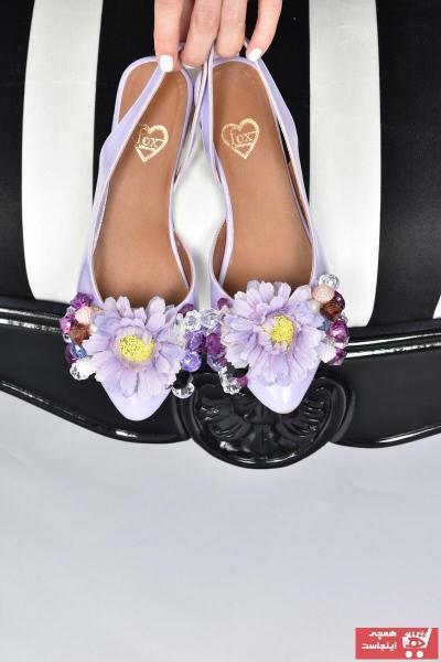 کفش بابت زنانه قیمت برند Fox Shoes رنگ بنفش کد ty108420166