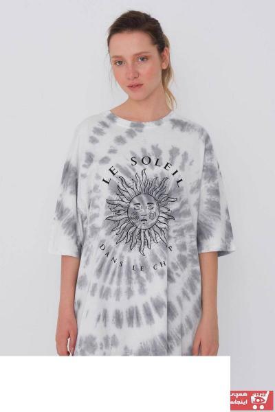 تیشرت زنانه ارزان قیمت برند Addax رنگ نقره ای کد ty108717397
