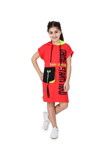 پیراهن شیک برند Smile Kids رنگ قرمز ty108924599
