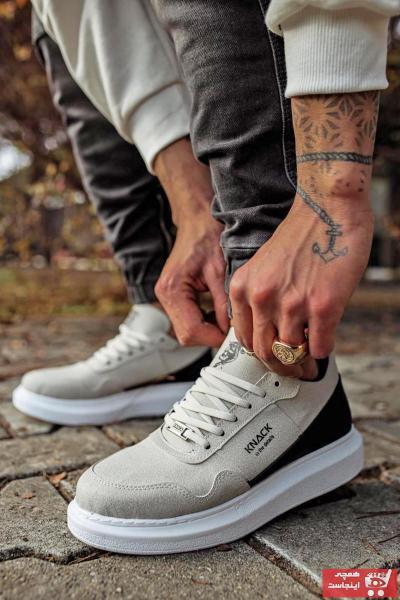 خرید نقدی کفش اسپرت شیک برند Mida Shoes رنگ نقره ای کد ty109108989