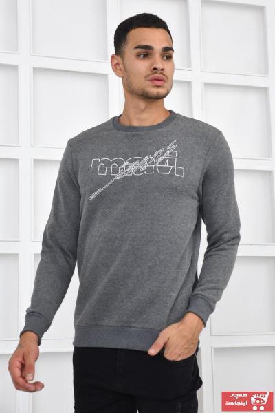 سویشرت طرح دار برند ماوی رنگ نقره ای کد ty109210698