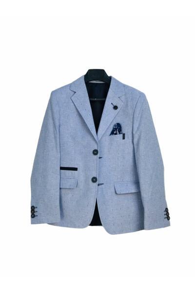 ژاکت پسرانه شیک جدید برند Toker Bebe رنگ آبی کد ty109616741