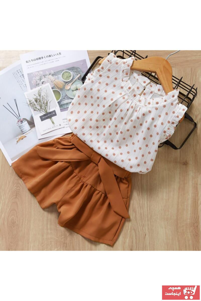 قیمت ست لباس دخترانه برند BUTTERFLYKIDSWEAR رنگ قهوه ای کد ty109758888