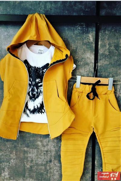 تی شرت ارزان برند Kidscocuk رنگ زرد ty109786806