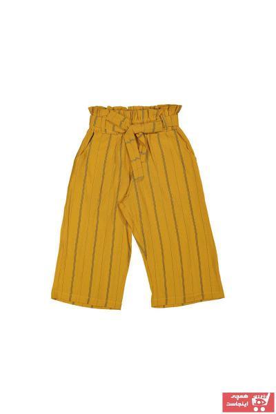 شلوارک دخترانه مارک دار برند durmaz çocuk رنگ زرد ty109913747