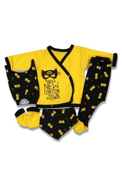 فروش پستی ست لباس نوزاد شیک جدید برند Concon Baby رنگ زرد ty110656784