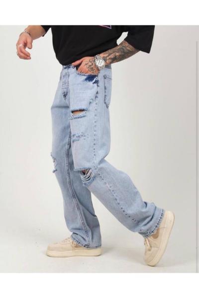 شلوار جین شیک مردانه برند ukdwear رنگ آبی کد ty110750546