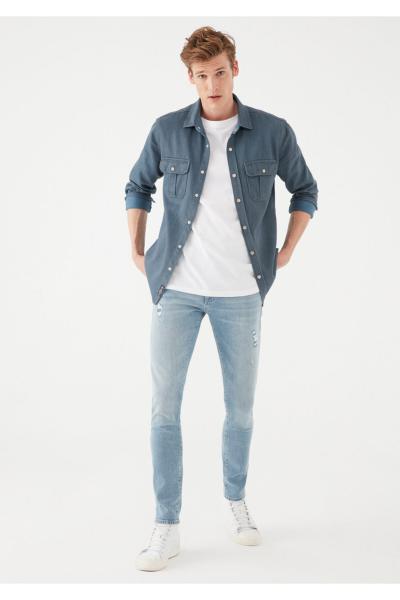 خرید نقدی شلوار جین مردانه فروشگاه اینترنتی برند ماوی رنگ آبی کد ty111216210