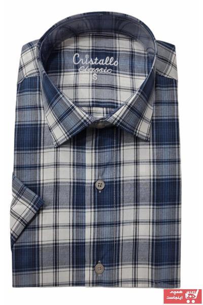 خرید پیراهن نخی برند Cristallo رنگ لاجوردی کد ty111248833