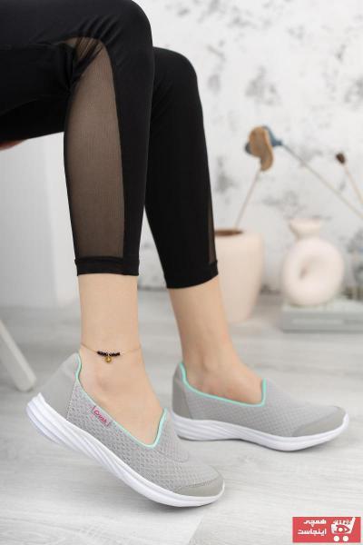 کفش تخت زنانه پارچه  برند Moda Frato رنگ نقره ای کد ty112167848