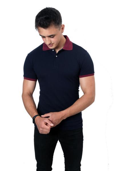 پولوشرت مردانه طرح دار برند yakamor رنگ لاجوردی کد ty112493116
