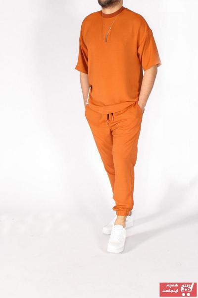 ست اسلش مردانه برند SMOLL FREE رنگ نارنجی کد ty112596238