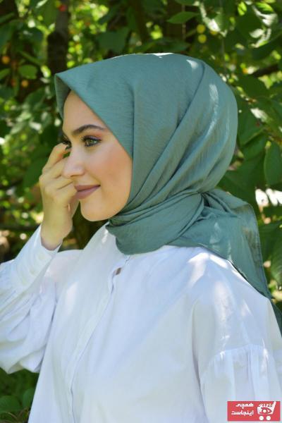 خرید روسری زنانه شیک مجلسی برند MaPolien رنگ سبز کد ty114279348