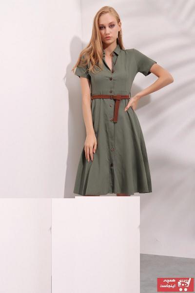 پیراهن زنانه مدل 2020 برند qiwiclub رنگ خاکی کد ty114838490
