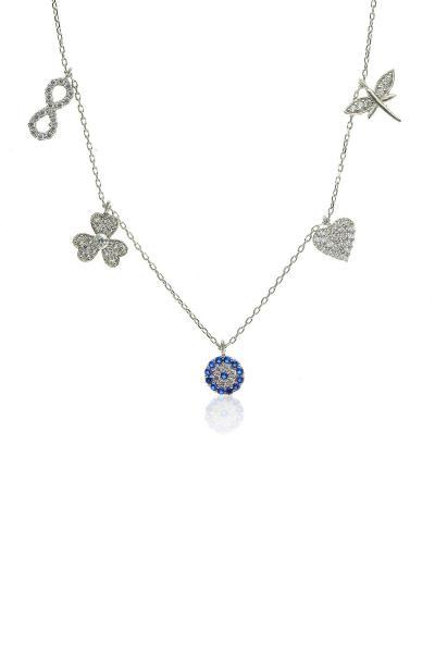 خرید گردنبند زنانه شیک مجلسی برند Söğütlü Silver کد ty2393696