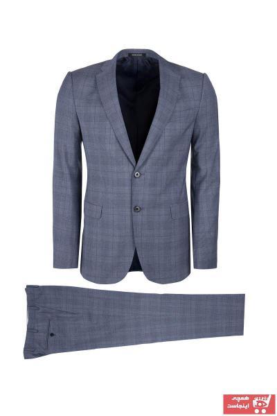 فروش کت شلوار مردانه جدید برند امپریو آرمانی رنگ نقره ای کد ty2760678