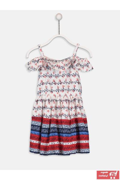 پیراهن دخترانه خاص برند ال سی وایکیکی ترک رنگ بژ کد ty28069559