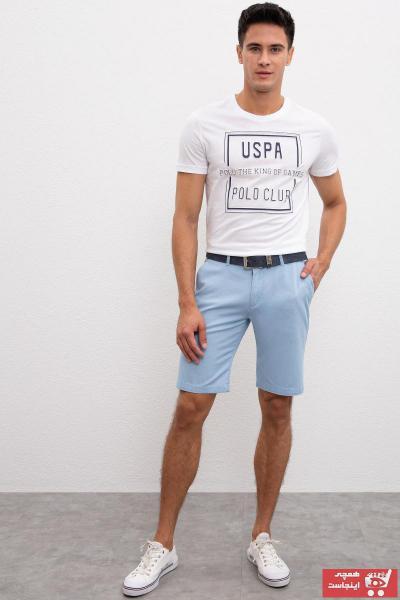شلوارک مردانه اصل و جدید برند یو اس پولو رنگ آبی کد ty29494559