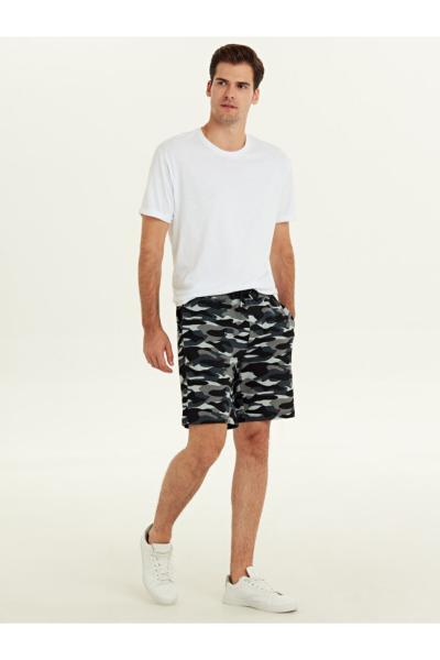 خرید ارزان شلوارک مردانه اسپرت برند ال سی وایکیکی LC Waikiki رنگ نقره ای کد ty31096996