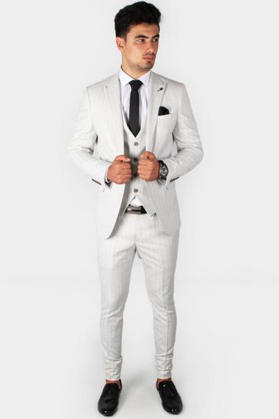 کت شلوار مردانه ست برند DeepSEA رنگ نقره ای کد ty31165575