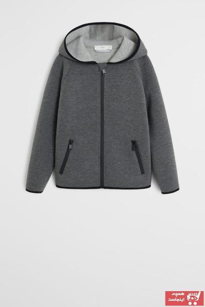 خرید ژاکت بچه گانه شیک برند مانگو رنگ نقره ای کد ty31614527
