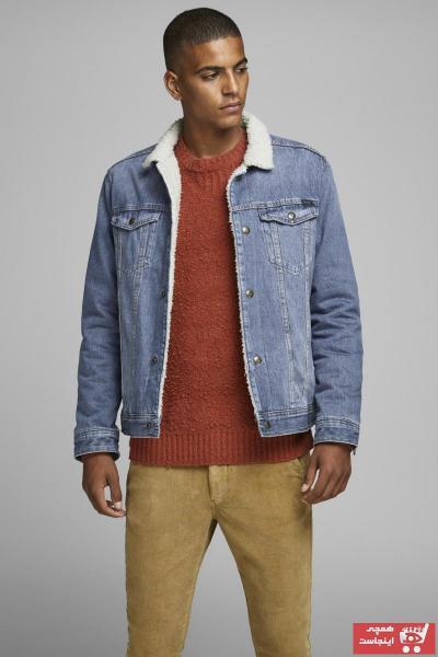 خرید انلاین ژاکت لی مردانه ترکیه برند جک اند جونز رنگ آبی کد ty32275031