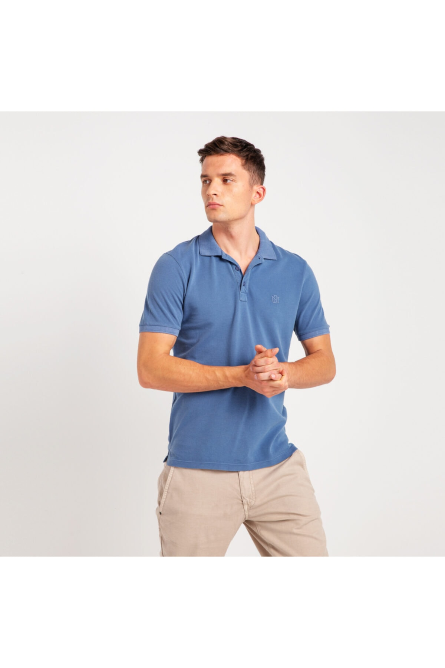 خرید انلاین پولوشرت مردانه خاص برند موستانگ رنگ لاجوردی کد ty32449086