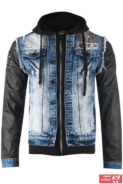 سفارش ژاکت چرم مردانه ارزان برند Cipo&Baxx رنگ آبی کد ty32525226