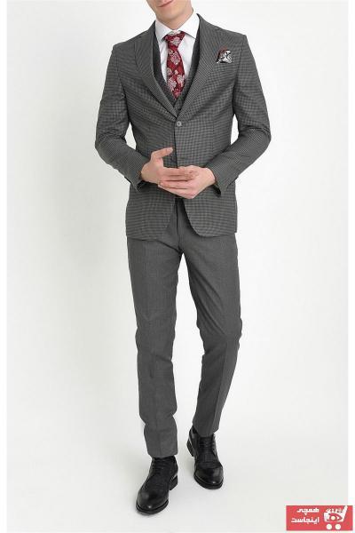 خرید پستی کت شلوار اصل مردانه برند Efor رنگ نقره ای کد ty32587643