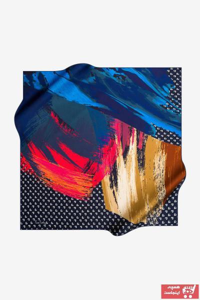 خرید روسری زنانه شیک برند پیرکاردن رنگ طلایی ty32620019