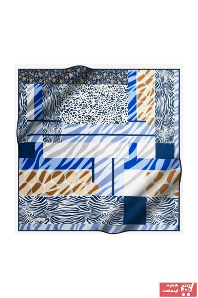 خرید نقدی روسری شیک برند پیرکاردن رنگ آبی کد ty32620418