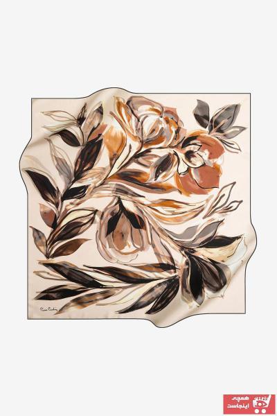 روسری زنانه 2021 مارک پیرکاردن رنگ نقره ای کد ty32620857