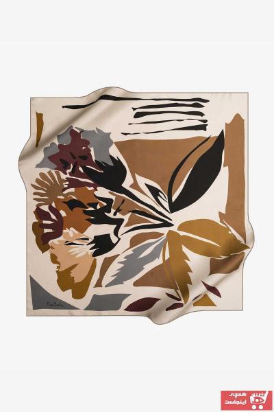 روسری زنانه با قیمت برند پیرکاردن رنگ طلایی ty32621139