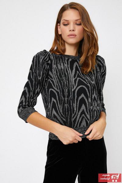 خرید اینترنتی پلیور خاص زنانه برند کوتون رنگ نقره ای کد ty32686084
