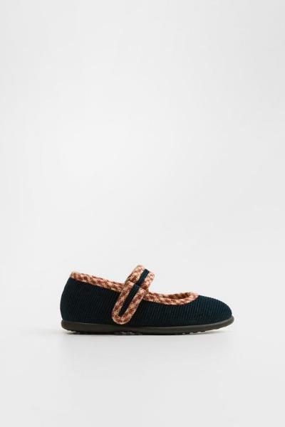 کفش تخت نوزاد دختر ارزان برند منگو رنگ لاجوردی کد ty32687801