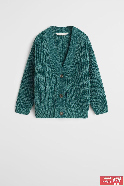 خرید نقدی ژاکت دخترانه ترک  برند مانگو رنگ سبز کد ty32687885