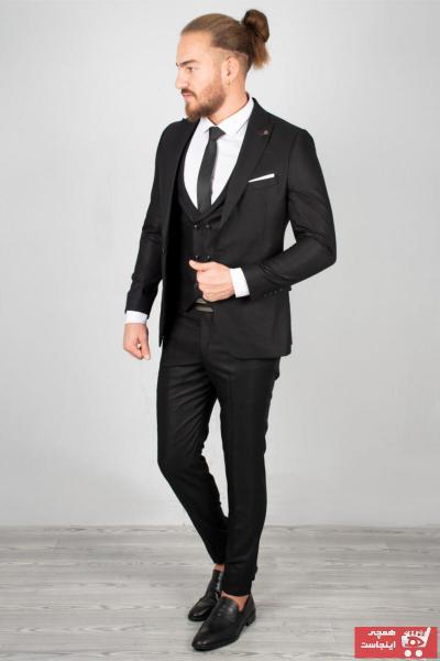 سفارش کت شلوار مردانه ارزان برند DeepSEA رنگ مشکی کد ty32903810