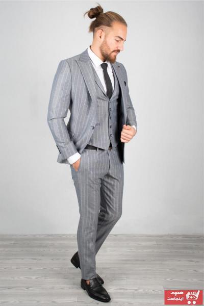سفارش انلاین کت شلوار مردانه ساده برند DeepSEA رنگ نقره ای کد ty32903827