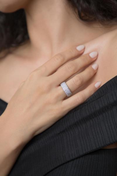خرید ارزان انگشتر زنانه اسپرت برند Elika Silver رنگ نقره کد ty32914354