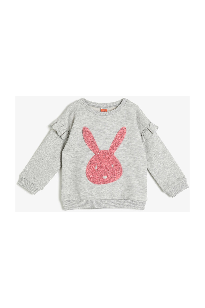 سویشرت نوزاد دختر  جدید برند Koton Kids رنگ نقره ای کد ty32957794
