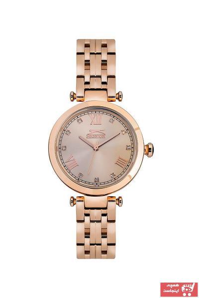 خرید اینترنتی ساعت مچی زنانه لوکس مارک اسلازنگر رنگ طلایی ty32990580
