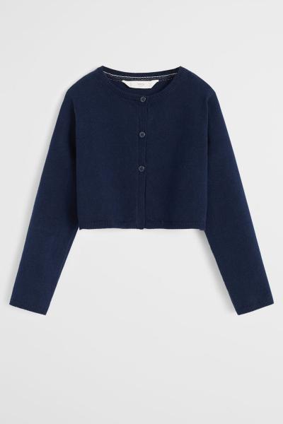 خرید انلاین ژاکت دخترانه طرح دار برند مانگو رنگ لاجوردی کد ty33054891