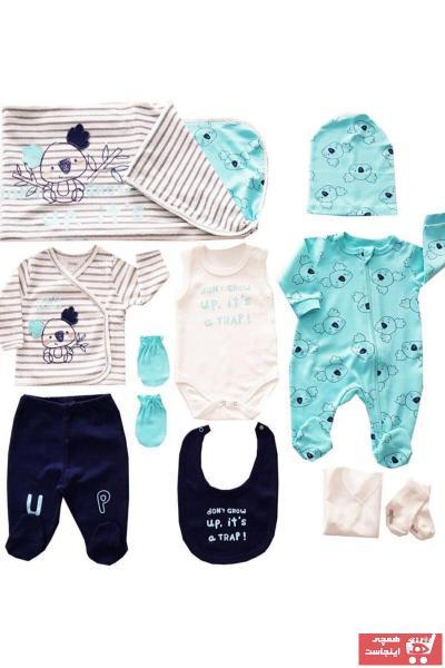 حرید اینترنتی ست لباس نوزاد ارزان برند İmaj رنگ فیروزه ای ty33322219