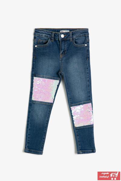 ژورنال شلوار جین بچه گانه دخترانه برند Koton Kids رنگ لاجوردی کد ty33369043