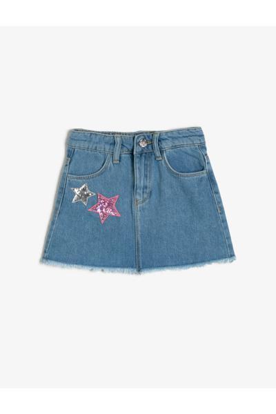 دامن دخترانه خاص برند Koton Kids رنگ آبی کد ty33826553