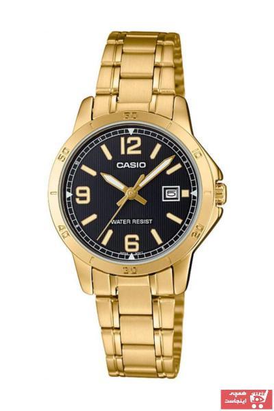 خرید آنلاین ساعت زنانه اورجینال برند کاسیو رنگ زرد ty34630238